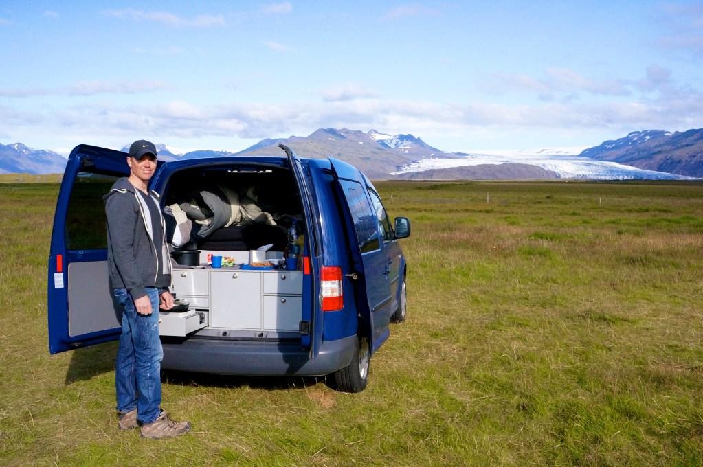 Campervan accommodation, Iceland. Photo: Eeva Routio.