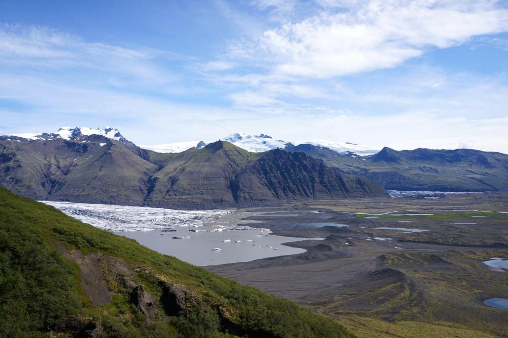 Hiking in Skattafell area, Vatnajökull National Park, Iceland. Photo: Eeva Routio.