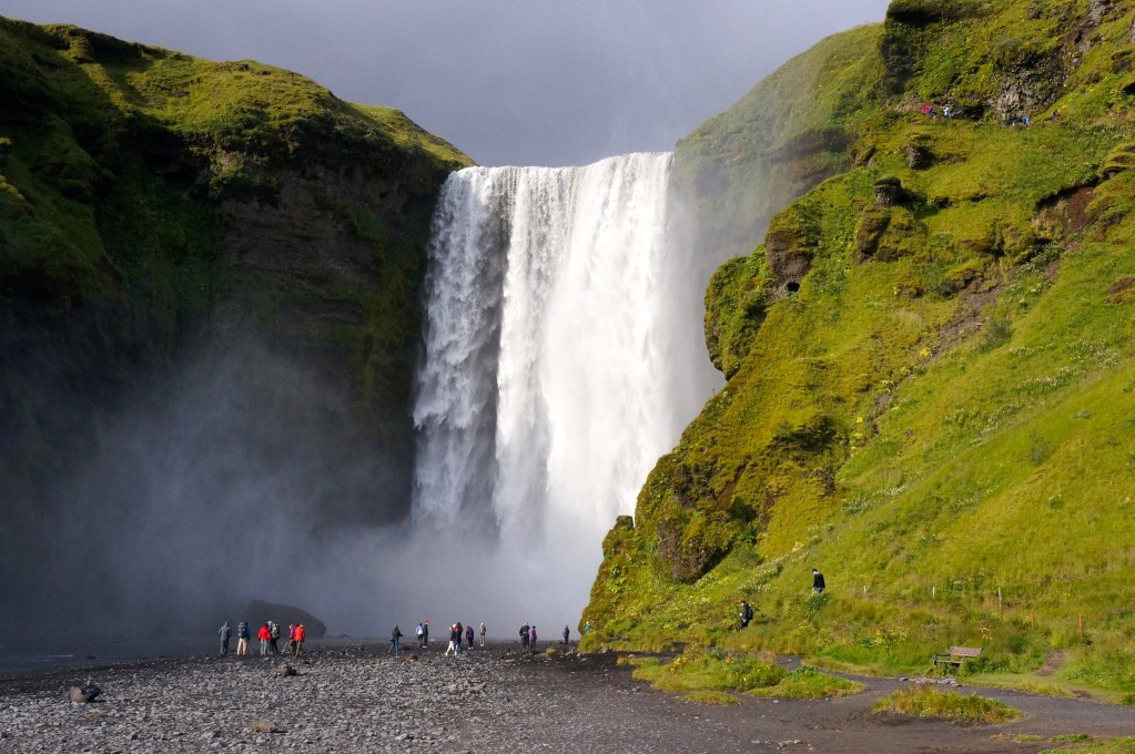Skogafoss waterfall, Iceland. Photo: Eeva Routio.
