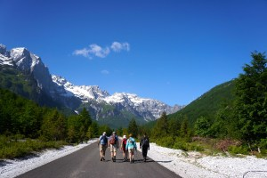 Career Break Travel. Hiking in the Albanian Alps. Photo: Eeva Routio.