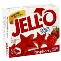 Raspberry Jell-O (not pre-made)