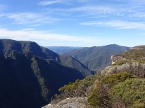 Beautiful view during a walk through Kanangra-Boyd Nationalpark.