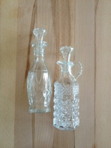 ~ Vintage Oil & Vinegar glass holders that my wonderful mother gifted me ~
