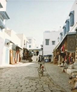Souk market at Sidi Bou Said Tunisia