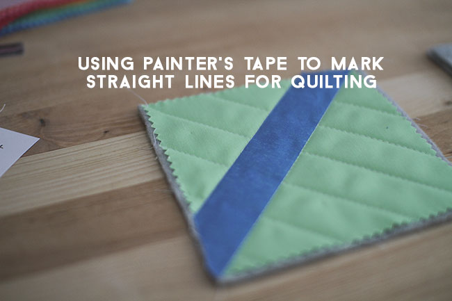 Using-Painters-Tape-to-make-lines-for-quilting