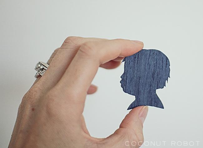 tiny Ethan wood veneer Silhouette