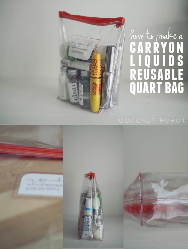how to make a carryon liquid bag