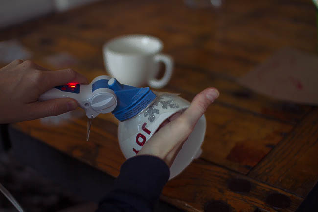 DIY Glitter Holiday Mugs 18