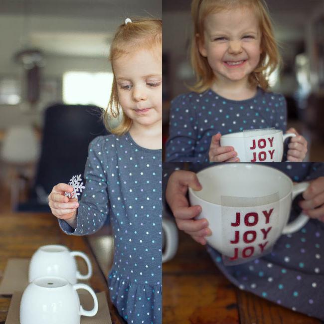 DIY Glitter Holiday Mugs 9