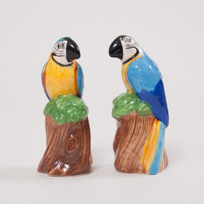 &Kelvering Parrot Salt and Pepper Shakers
