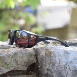XL fitover sunglasses with boysenberry lenses