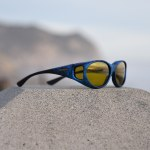 Ink Cocoons fitover sunglasses with yellow lens system