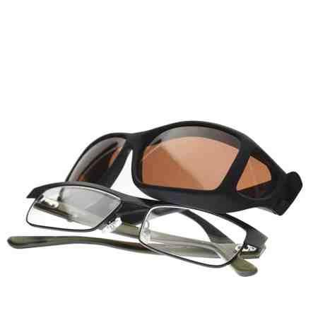 black and copper fitover sunglasses