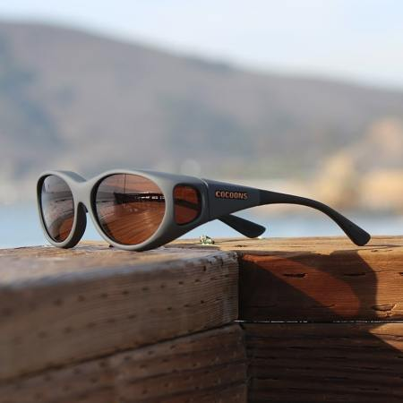 Slate Cocoons fitover sunglasses with copper