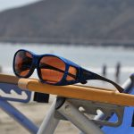 Medium ink fitover sunglasses with copper lenses