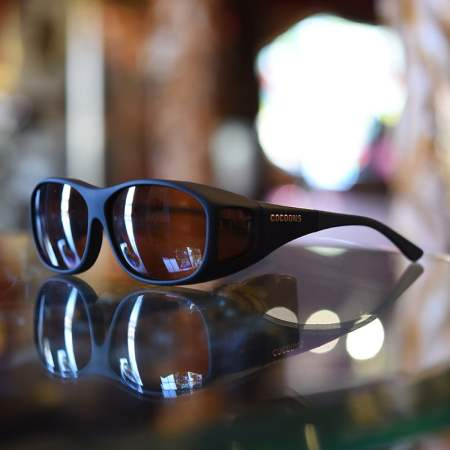 black cocoons fitover sunglasses