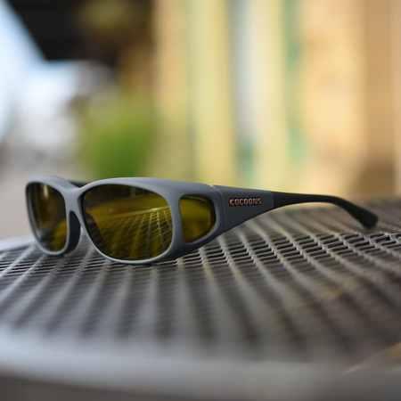 Slate Mini Slim fitover sunglasses with yellow lenses
