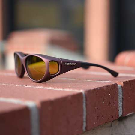 Burgundy Stream Line cocoons fitover sunglasses