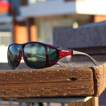 Extra Large Cocoons fitover sunglasses in Black Cherry