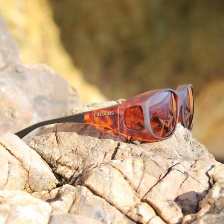 Slim Line Cocoons fitover sunglasses in tortoiseshell