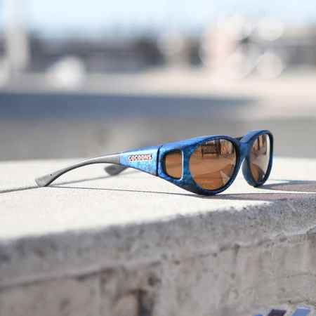 Stream Line fitover sunglasses with amber lenses