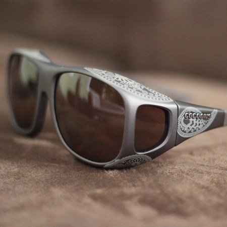 Large fitover sunglasses with henna designs