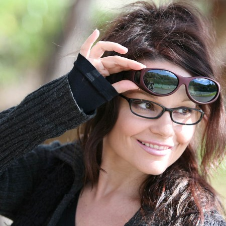 Small womens fitover sunglasses on angel