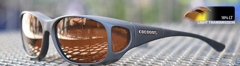 cocoons fitover sunglasses in hazel for low vision