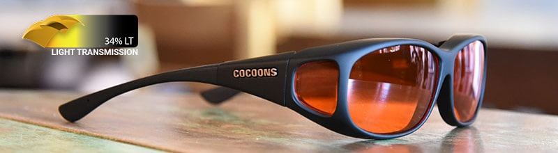 cocoons fitover sunglasses in orange