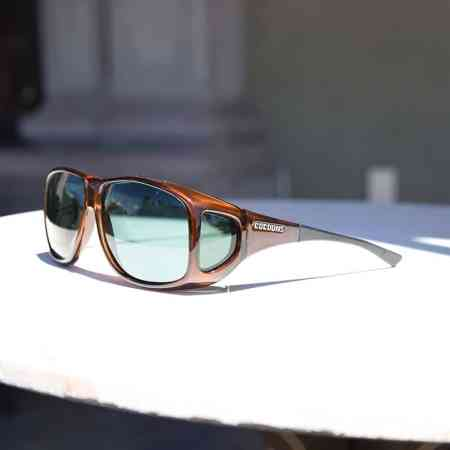 Polarized fitover sunglasses in chocolate color