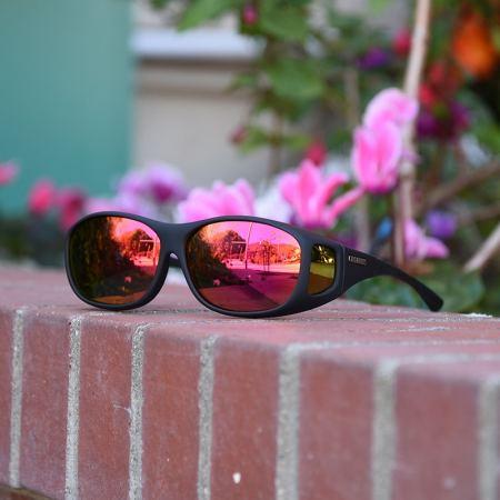 Cocoons fitover sunglasses brick rose mirror