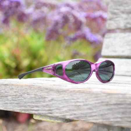 Amethyst Minislim Cocoons Fitover sunglasses in the Park