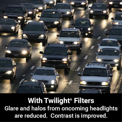 Reduce road glare, headlight halos and blue light transmission with Cocoons Twilight HEV filters