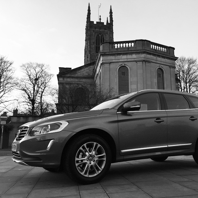 Volvo XC60 outside Derby Cathedral