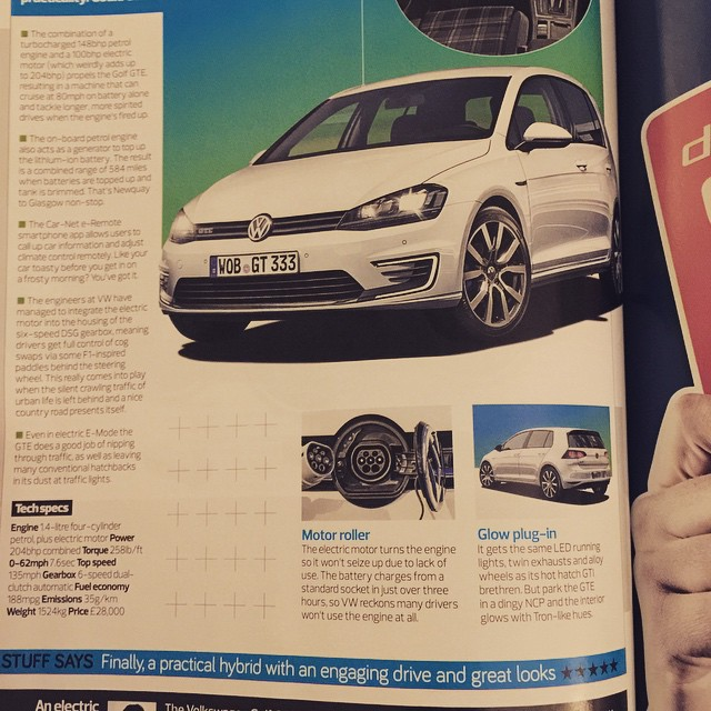 We are looking forward to the arrival of the Golf GTE in the office!