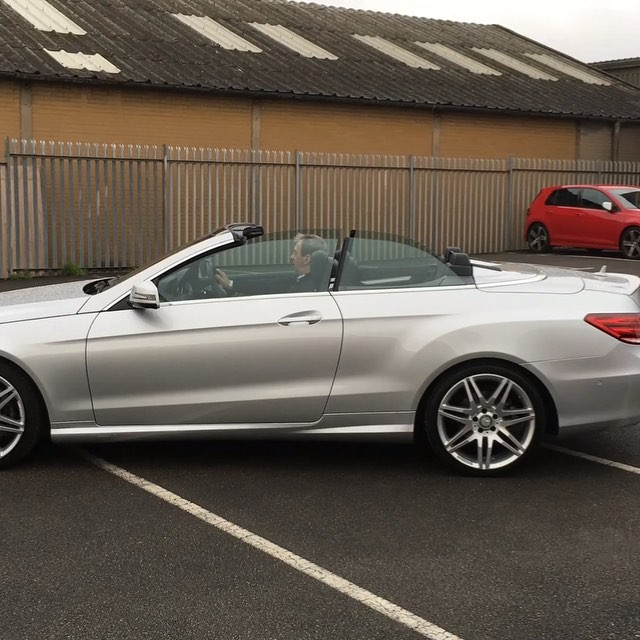Mercedes E Class Cabriolet - Top Off - Top On