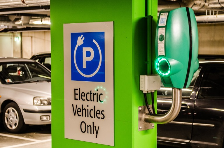 electric vehicles only sign