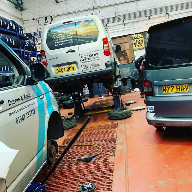 Great service from Selecta Tyre in - 4 Brand New Tyres, New Brakes and a fee other fixes from our ex-2012 Summer Olympics Van!