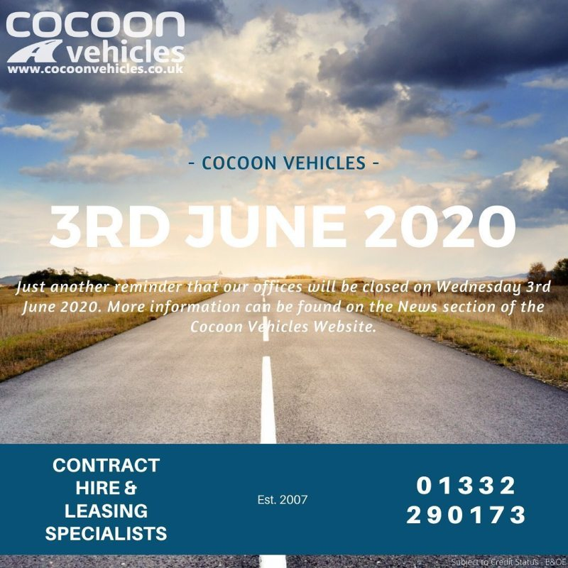 """Just another reminder that our offices are closed tomorrow (Wednesday 3rd June 2020). Find out more on our website and click """"news"""""""