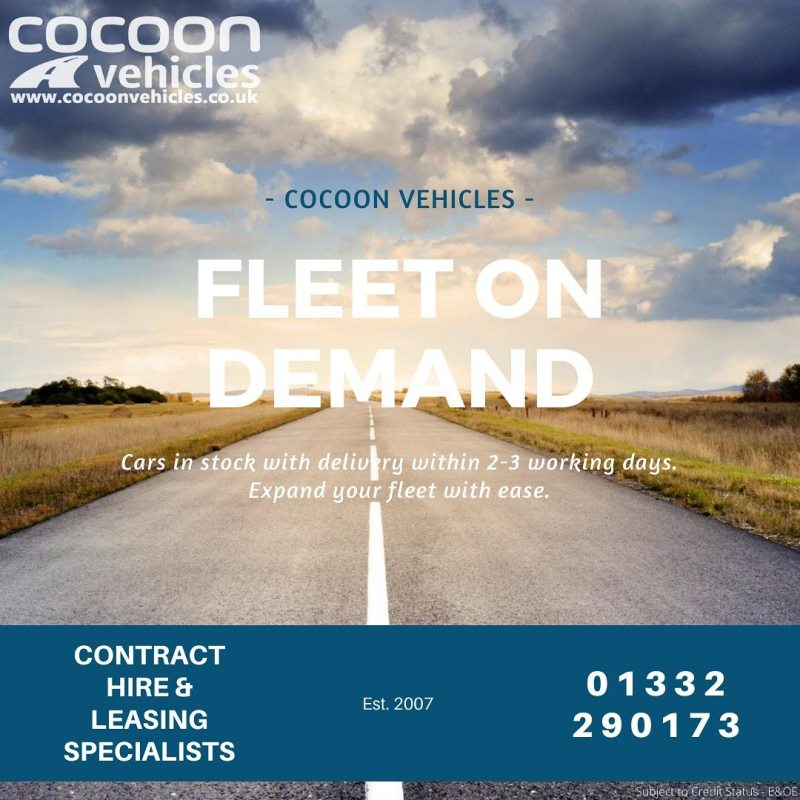 Do you need to expand your fleet on demand? Then here at Cocoon Vehicles we offer a 2-3 day delivery window in all Flexi-rent, in-stock vehicles.  Find out how Cocoon Vehicles can help you and your fleet during these strange times with our flexible car solutions.  We really can supply cars on demand for your business.