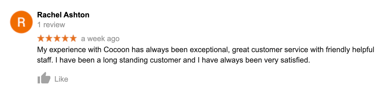 Rachel Ashton 5-Star Google Review