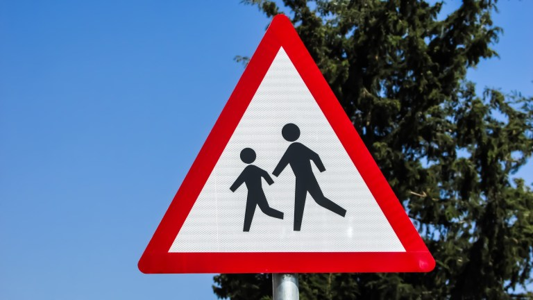 Road Sign for Outside a School