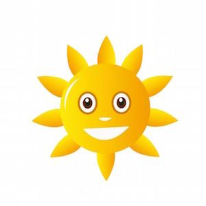 太陽の光で幸せ+