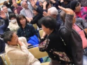 笑顔いっぱいの社会福祉大会講演会の様子