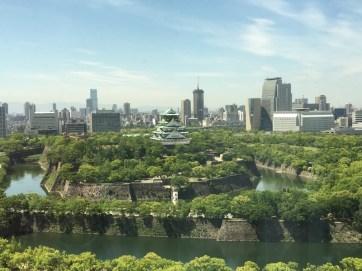 メンタルヘルス研修の会場からの眺め(大坂城)