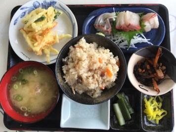 江田島で食べた刺身定食