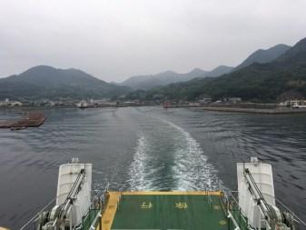 江田島からフェリーの様子