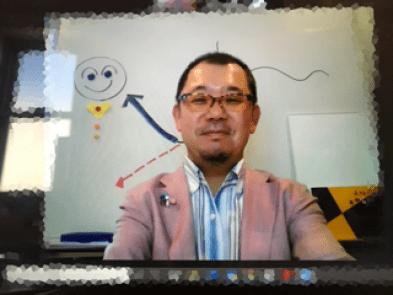 鎌田敏のオンライン講演会の写真