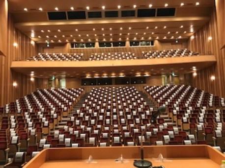 民生委員児童委員研修会場のホール客席の写真