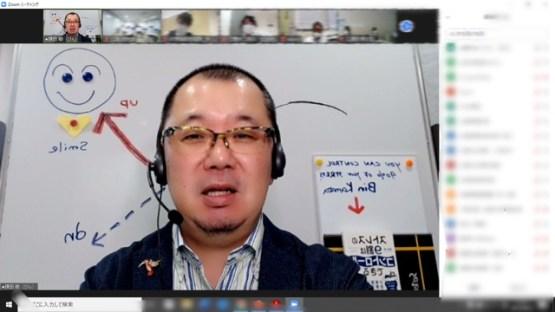 オンライン・モチベーションアップセミナーの様子(講師:鎌田敏)